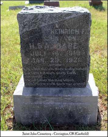 RABE, HEINRICH F. - Garfield County, Oklahoma | HEINRICH F. RABE - Oklahoma Gravestone Photos