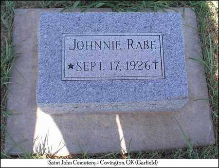 RABE, JOHNNIE - Garfield County, Oklahoma | JOHNNIE RABE - Oklahoma Gravestone Photos
