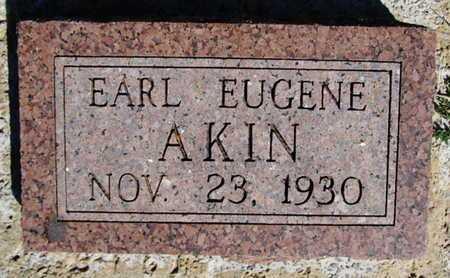 AKIN, EARL EUGENE - Grady County, Oklahoma | EARL EUGENE AKIN - Oklahoma Gravestone Photos