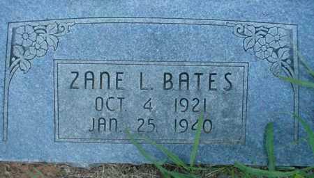 BATES, ZANE L - Grady County, Oklahoma   ZANE L BATES - Oklahoma Gravestone Photos