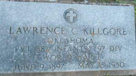 KILLGORE (VETERAN WWI), LAWRENCE C - Grady County, Oklahoma   LAWRENCE C KILLGORE (VETERAN WWI) - Oklahoma Gravestone Photos