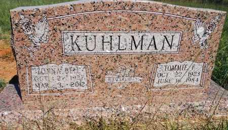 KUHLMAN, ZONA BELLE - Grady County, Oklahoma | ZONA BELLE KUHLMAN - Oklahoma Gravestone Photos