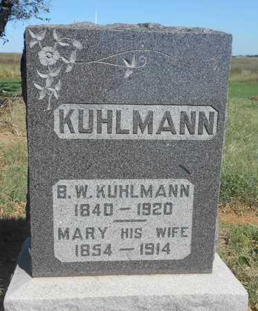 KUHLMANN, B W - Grady County, Oklahoma | B W KUHLMANN - Oklahoma Gravestone Photos