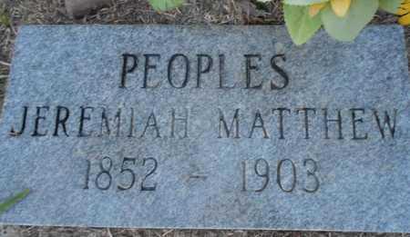 PEOPLES, JEREMIAH MATTHEW - Grady County, Oklahoma | JEREMIAH MATTHEW PEOPLES - Oklahoma Gravestone Photos