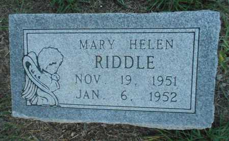 RIDDLE, MARY HELEN - Grady County, Oklahoma | MARY HELEN RIDDLE - Oklahoma Gravestone Photos