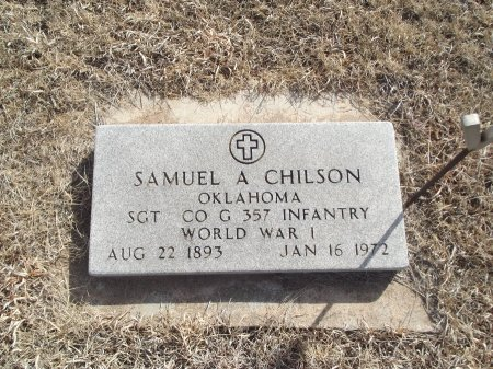 CHILSON (VETERAN WWI), SAMUEL A - Grant County, Oklahoma | SAMUEL A CHILSON (VETERAN WWI) - Oklahoma Gravestone Photos