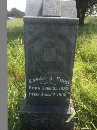 FORD, SARAH J - Grant County, Oklahoma   SARAH J FORD - Oklahoma Gravestone Photos