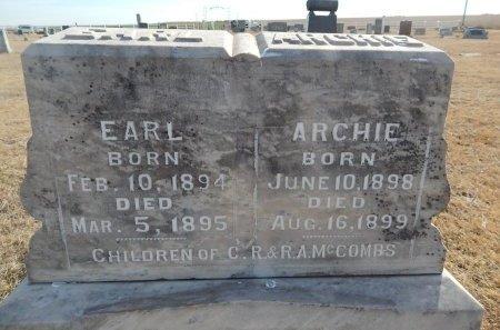 MCCOMBS, ARCHIE - Grant County, Oklahoma | ARCHIE MCCOMBS - Oklahoma Gravestone Photos