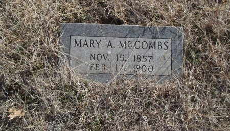 MCCOMBS, MARY A - Grant County, Oklahoma | MARY A MCCOMBS - Oklahoma Gravestone Photos