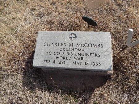 MCCOMBS (VETERAN WWI), CHARLES M - Grant County, Oklahoma | CHARLES M MCCOMBS (VETERAN WWI) - Oklahoma Gravestone Photos
