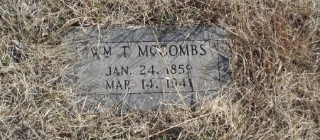 MCCOMBS, WILLIAM T - Grant County, Oklahoma | WILLIAM T MCCOMBS - Oklahoma Gravestone Photos