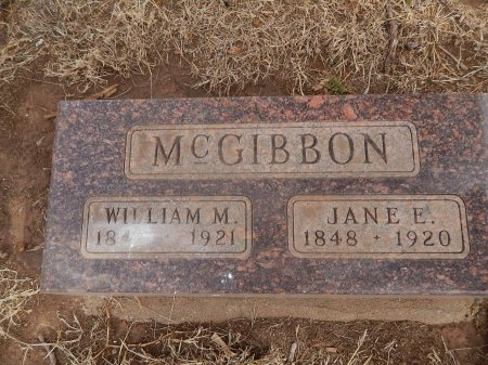 MCGIBBON, WILLIAM M - Grant County, Oklahoma   WILLIAM M MCGIBBON - Oklahoma Gravestone Photos