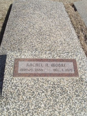 MOORE, RACHEL A - Grant County, Oklahoma | RACHEL A MOORE - Oklahoma Gravestone Photos