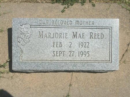 REED, MARJORIE MAE - Grant County, Oklahoma | MARJORIE MAE REED - Oklahoma Gravestone Photos