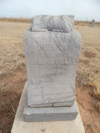 RENEAU, INFANT DAUGHTER - Grant County, Oklahoma | INFANT DAUGHTER RENEAU - Oklahoma Gravestone Photos