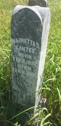 SANTEE, MARRIETTA S - Grant County, Oklahoma | MARRIETTA S SANTEE - Oklahoma Gravestone Photos