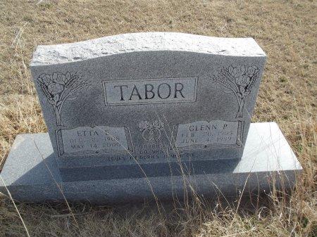TABOR, ETTA E - Grant County, Oklahoma   ETTA E TABOR - Oklahoma Gravestone Photos