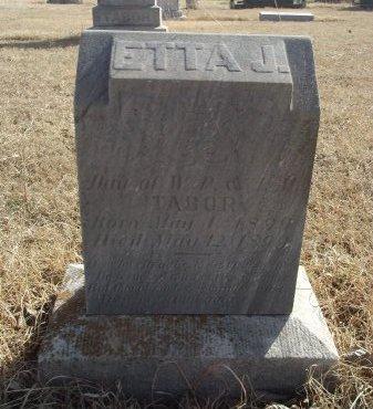 TABOR, ETTA J - Grant County, Oklahoma | ETTA J TABOR - Oklahoma Gravestone Photos