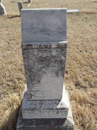 TABOR, FAMILY MARKER - Grant County, Oklahoma | FAMILY MARKER TABOR - Oklahoma Gravestone Photos
