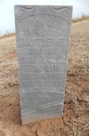 TEMPLIN, MATTIE E - Grant County, Oklahoma | MATTIE E TEMPLIN - Oklahoma Gravestone Photos