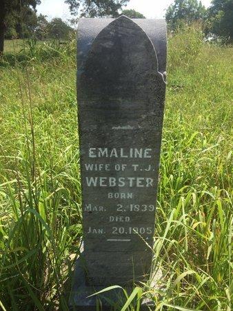 WEBSTER, EMALINE - Grant County, Oklahoma | EMALINE WEBSTER - Oklahoma Gravestone Photos
