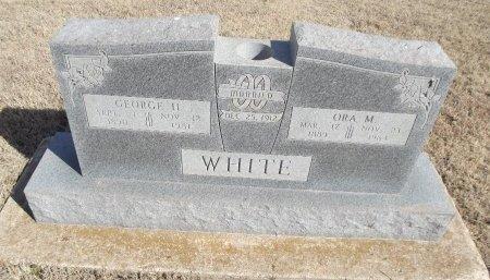 WHITE, GEORGE H - Grant County, Oklahoma   GEORGE H WHITE - Oklahoma Gravestone Photos