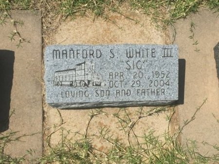 WHITE, MANFORD S III - Grant County, Oklahoma | MANFORD S III WHITE - Oklahoma Gravestone Photos