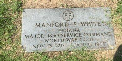 WHITE (VETERAN WWI WWII), MANFORD S - Grant County, Oklahoma | MANFORD S WHITE (VETERAN WWI WWII) - Oklahoma Gravestone Photos