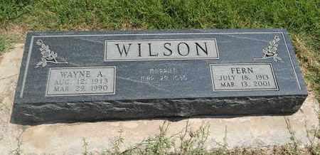 WILSON, WAYNE A - Grant County, Oklahoma | WAYNE A WILSON - Oklahoma Gravestone Photos