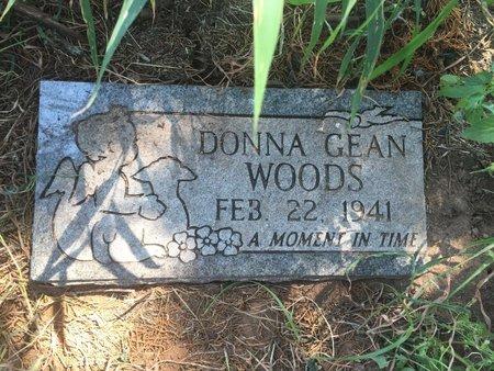 WOODS, DONNA GEAN - Grant County, Oklahoma | DONNA GEAN WOODS - Oklahoma Gravestone Photos