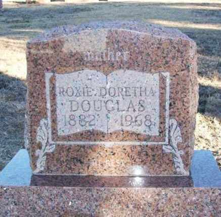 JACKSON DOUGLAS, ROXIE DORETHA - Greer County, Oklahoma   ROXIE DORETHA JACKSON DOUGLAS - Oklahoma Gravestone Photos