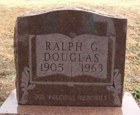 DOUGLAS, RALPH G - Greer County, Oklahoma | RALPH G DOUGLAS - Oklahoma Gravestone Photos