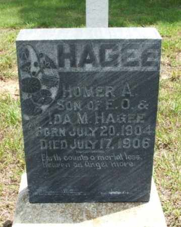 HAGEE, HOMER A - Greer County, Oklahoma | HOMER A HAGEE - Oklahoma Gravestone Photos