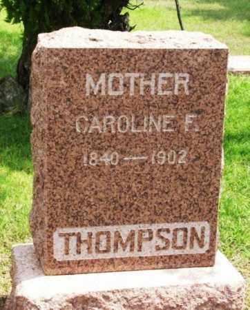 THOMPSON, CAROLINE FRANCIS - Greer County, Oklahoma | CAROLINE FRANCIS THOMPSON - Oklahoma Gravestone Photos