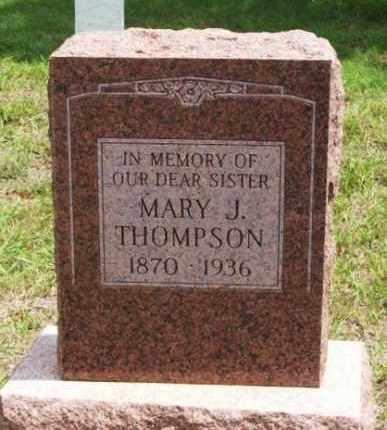 THOMPSON, MARY J - Greer County, Oklahoma | MARY J THOMPSON - Oklahoma Gravestone Photos