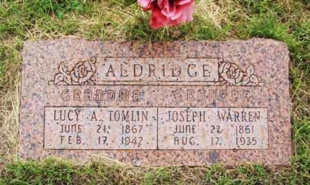 ALDRIDGE, JOSEPH WARREN - Harmon County, Oklahoma | JOSEPH WARREN ALDRIDGE - Oklahoma Gravestone Photos
