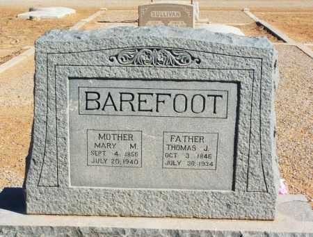 BAREFOOT, THOMAS J - Harmon County, Oklahoma | THOMAS J BAREFOOT - Oklahoma Gravestone Photos