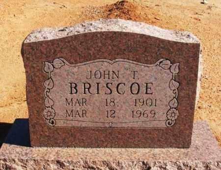 BRISCOE, JOHN T - Harmon County, Oklahoma | JOHN T BRISCOE - Oklahoma Gravestone Photos