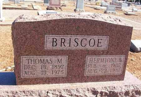 BRISCOE, THOMAS M - Harmon County, Oklahoma   THOMAS M BRISCOE - Oklahoma Gravestone Photos