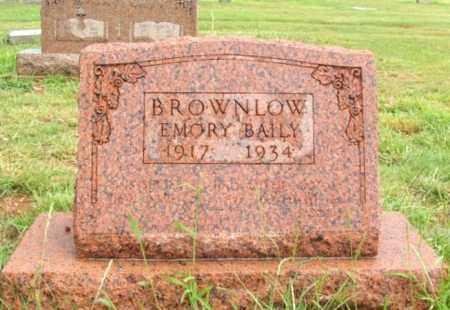 BROWNLOW, EMORY BAILY - Harmon County, Oklahoma | EMORY BAILY BROWNLOW - Oklahoma Gravestone Photos