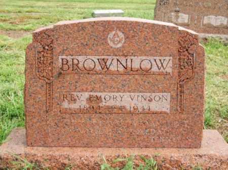 BROWNLOW, REV EMORY VINSON - Harmon County, Oklahoma | REV EMORY VINSON BROWNLOW - Oklahoma Gravestone Photos