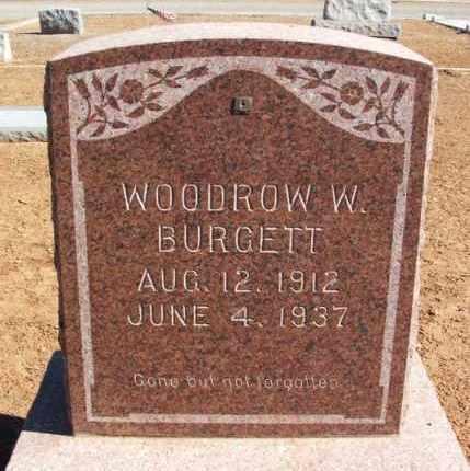 BURGETT, WOODROW W - Harmon County, Oklahoma   WOODROW W BURGETT - Oklahoma Gravestone Photos