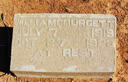BURGETT, WILLIAM G - Harmon County, Oklahoma | WILLIAM G BURGETT - Oklahoma Gravestone Photos