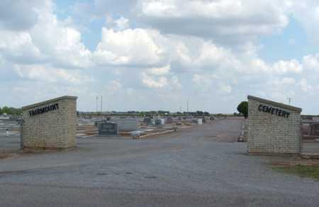 *FAIRMOUNT, *ENTRANCE - Harmon County, Oklahoma   *ENTRANCE *FAIRMOUNT - Oklahoma Gravestone Photos