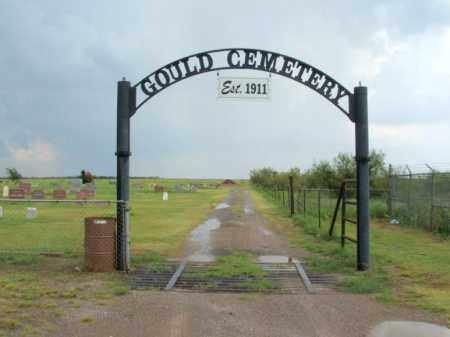 *GOULD, *ENTRANCE - Harmon County, Oklahoma   *ENTRANCE *GOULD - Oklahoma Gravestone Photos