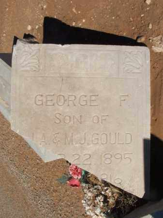 GOULD (TOP OF STONE), GEORGE F - Harmon County, Oklahoma | GEORGE F GOULD (TOP OF STONE) - Oklahoma Gravestone Photos