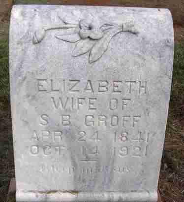 GROFF, ELIZABETH - Harmon County, Oklahoma | ELIZABETH GROFF - Oklahoma Gravestone Photos