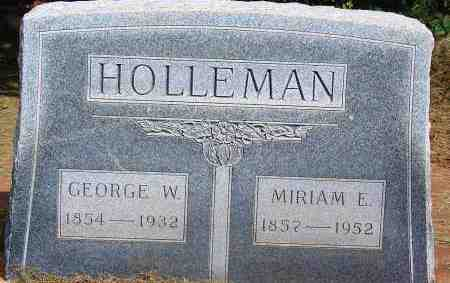 HOLLEMAN, GEORGE W - Harmon County, Oklahoma | GEORGE W HOLLEMAN - Oklahoma Gravestone Photos