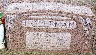 "HOLLEMAN, IONE V ""ONCIE"" - Harmon County, Oklahoma 