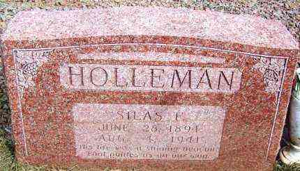 HOLLEMAN, SILAS F - Harmon County, Oklahoma | SILAS F HOLLEMAN - Oklahoma Gravestone Photos